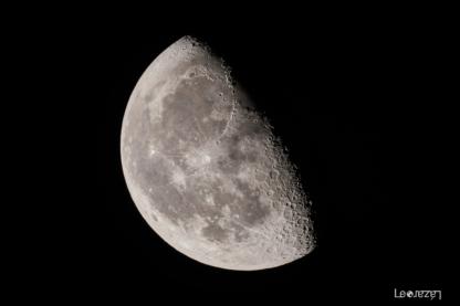 Luna menguante, con telescopio Celestron C90 Mak